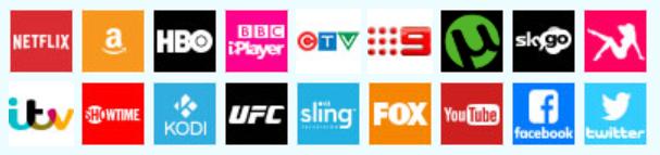 Le logiciel VPN fonctionne avec tous les fournisseurs de streaming