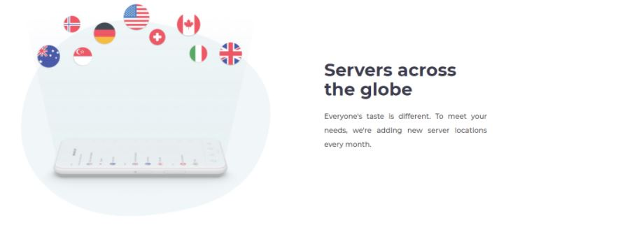 Atlas VPN dispose d'environ 573 serveurs répartis dans dix-sept pays différents.